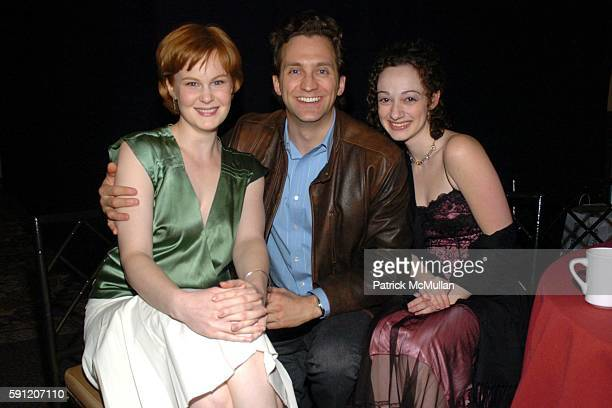 Kate Baldwin Graham Rowat and Meghan McGinnis attend Roundabout Theatre Company's 2005 Spring Gala Celebration at Pier 60 on April 11 2005 in New...