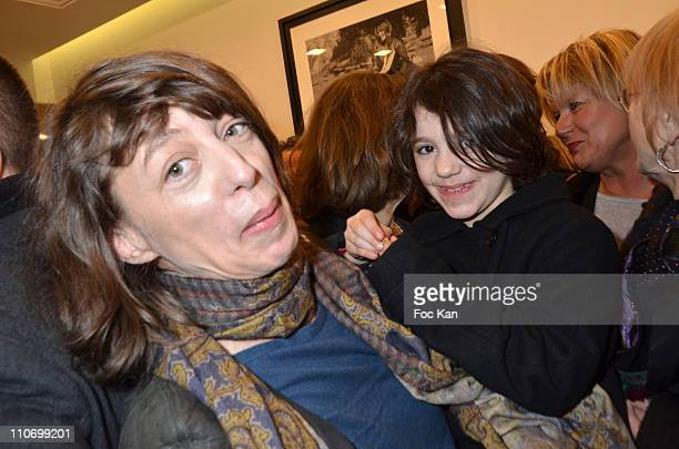 Kate Barry and her daughter attend the Gerard Darel Flagship Opening With Robin Wright on March 9 2011 in Paris France