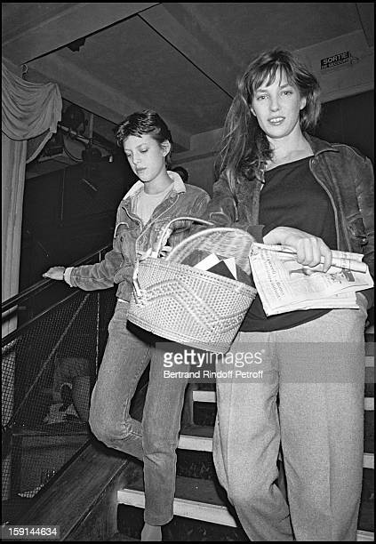 Kate Barry and her mother Jane Birkin attend the party following the premiere of the film Nestor Burma Detective De Choc