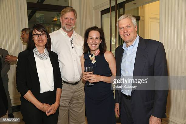 Kate Bartlett Eric Rose Jennifer Ramone and Bill Bartlett attend the Institute of Classical Architecture and Art New York Chapter Spring Social at...
