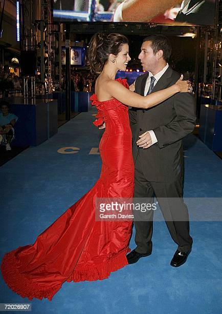 Kate Beckinsale and Adam Sandler arrives at the UK premiere of 'Click' at the Empire Leicester Square on September 27 2006 in London England