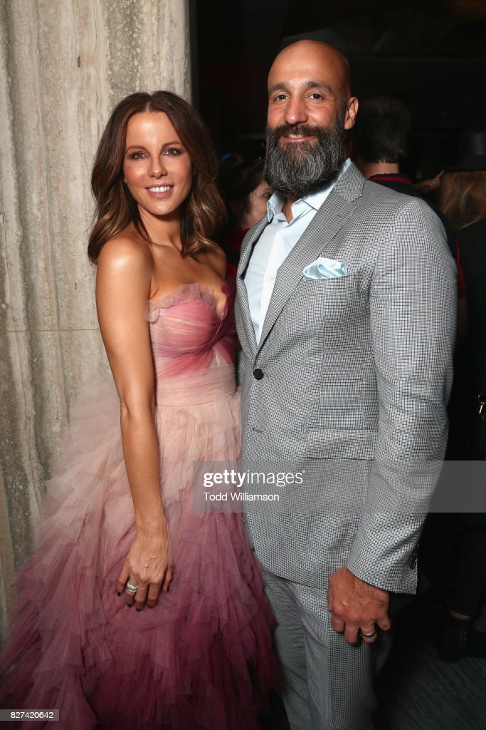 Kate Beckinsale and Amazon Studios' Worldwide Head of Motion Pictures Jason Ropell attend 'The Only Living Boy In New York' Premiere after party at The Rainbow Room on August 7, 2017 in New York City.