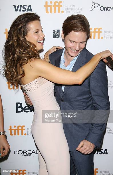 Kate Beckinsale and Daniel Bruhl arrive at the premiere of The Face of an Angel held during the 2014 Toronto International Film Festival Day 3 on...