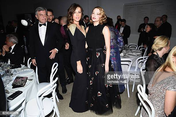 Kate Beckinsale and Haley Bennett attend the 2016 Guggenheim International Gala Made Possible By Dior at Solomon R Guggenheim Museum on November 17...