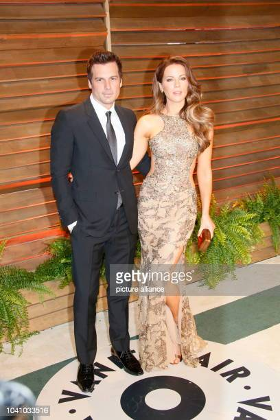 Kate Beckinsale and her husband director Len Wiseman arrive at the Vanity Fair Oscar Party in West Hollywood Los Angeles USA 02 March 2014 Photo...