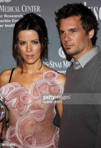 Kate Beckinsale and Len Wiseman at the 4th Annual Pink Party held at the Hanger 8 in Santa Monica California United States