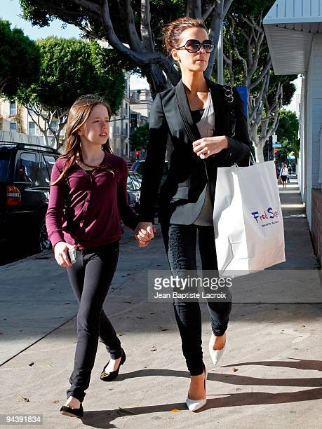 Kate Beckinsale and Lily Sheen shop at Fred Segal on December 13 2009 in Los Angeles California