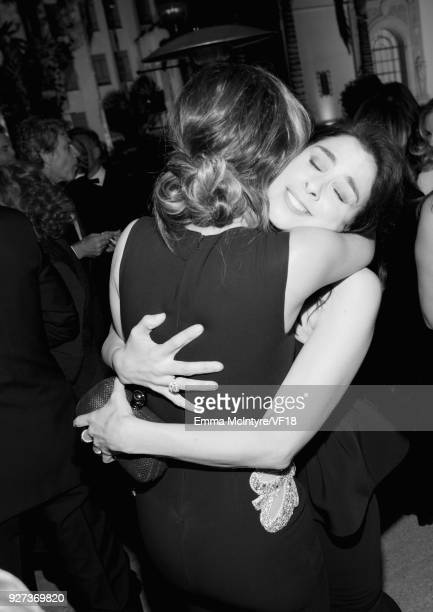 Kate Beckinsale and Sarah Silverman attend the 2018 Vanity Fair Oscar Party hosted by Radhika Jones at Wallis Annenberg Center for the Performing...