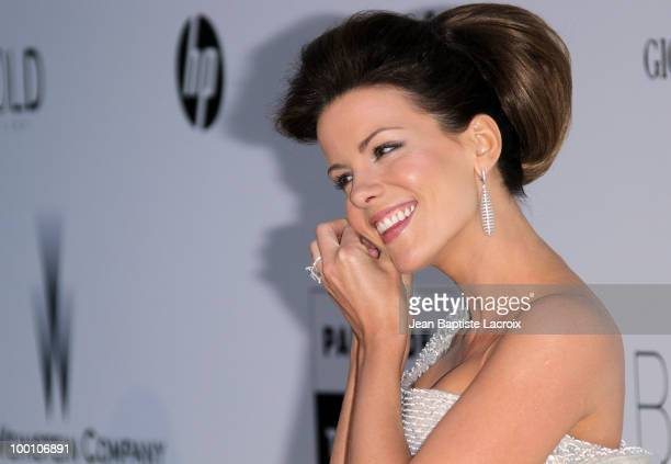 Kate Beckinsale arrives at amfAR's Cinema Against AIDS 2010 benefit gala at the Hotel du Cap on May 20 2010 in Cannes France