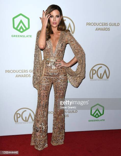 Kate Beckinsale arrives at the 31st Annual Producers Guild Awards at Hollywood Palladium on January 18, 2020 in Los Angeles, California.