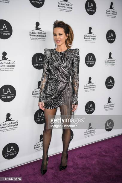 Kate Beckinsale arrives at the LA Art Show 2019 Opening Night Gala at the Los Angeles Convention Center on January 23 2019 in Los Angeles California