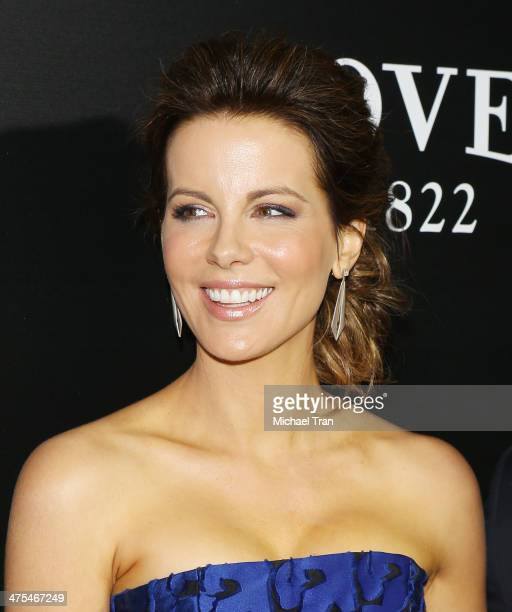 Kate Beckinsale arrives at the Hollywood Domino's 7th Annual PreOscar Charity Gala held at Sunset Tower on February 27 2014 in West Hollywood...