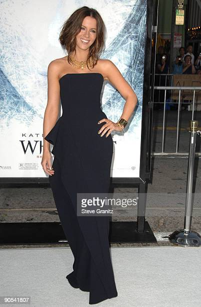 Kate Beckinsale arrives at the Los Angeles premiere of Whiteout at the Mann Village Theatre on September 9 2009 in Westwood Los Angeles California