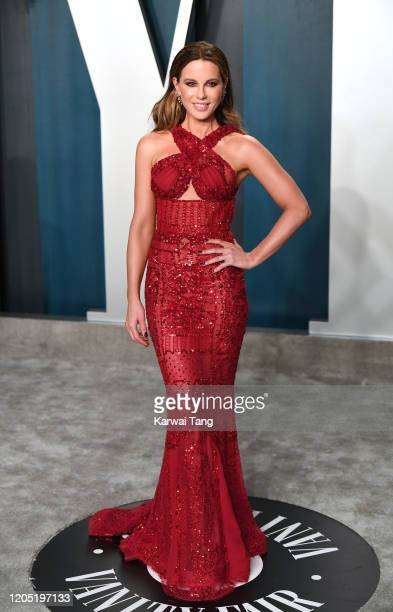 Kate Beckinsale arriving for the 2020 Vanity Fair Oscar Party Hosted By Radhika Jones, at the Wallis Annenberg Center for the Performing Arts on...