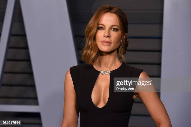 Kate Beckinsale attends 2018 Vanity Fair Oscar Party Hosted By Radhika Jones Arrivals at Wallis Annenberg Center for the Performing Arts on March 4...