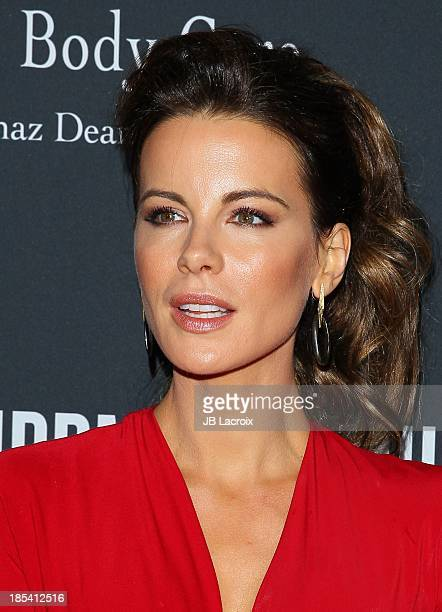 Kate Beckinsale attends Elyse Walker Presents The Pink Party 2013 hosted by Anne Hathaway at The Barker Hanger on October 19 2013 in Santa Monica...