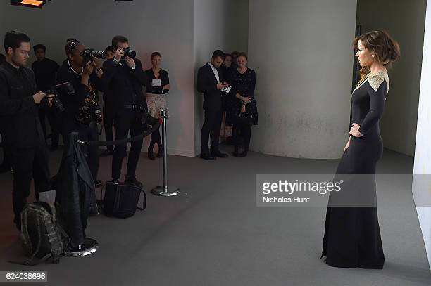 Kate Beckinsale attends the 2016 Guggenheim International Gala Made Possible By Dior at Solomon R Guggenheim Museum on November 17 2016 in New York...