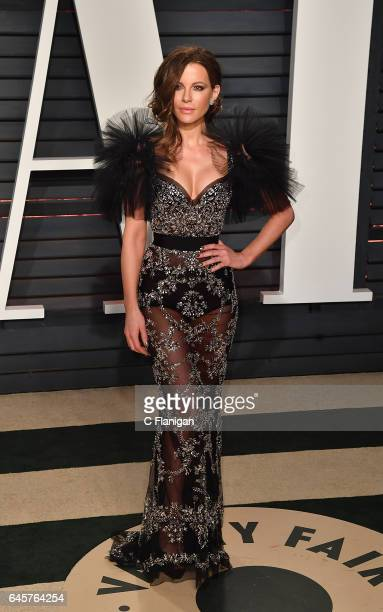 Kate Beckinsale attends the 2017 Vanity Fair Oscar Party Hosted by Graydon Carter at the Wallis Annenberg Center for the Performing Arts on February...
