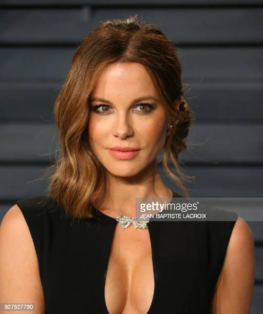 Kate Beckinsale attends the 2018 Vanity Fair Oscar Party following the 90th Academy Awards at The Wallis Annenberg Center for the Performing Arts in...