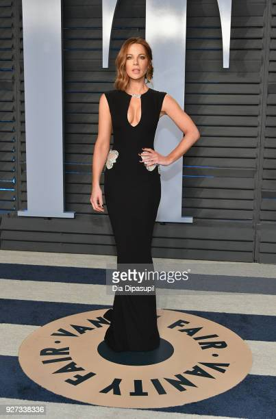 Kate Beckinsale attends the 2018 Vanity Fair Oscar Party hosted by Radhika Jones at Wallis Annenberg Center for the Performing Arts on March 4 2018...