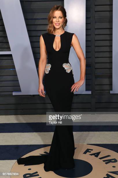 Kate Beckinsale attends the 2018 Vanity Fair Oscar Party hosted by Radhika Jones at the Wallis Annenberg Center for the Performing Arts on March 4...