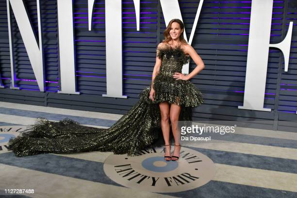 Kate Beckinsale attends the 2019 Vanity Fair Oscar Party hosted by Radhika Jones at Wallis Annenberg Center for the Performing Arts on February 24...