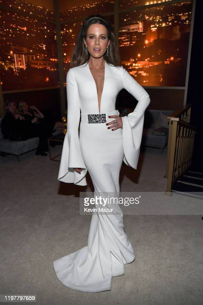 Kate Beckinsale attends The 2020 InStyle And Warner Bros. 77th Annual Golden Globe Awards Post-Party at The Beverly Hilton Hotel on January 05, 2020...