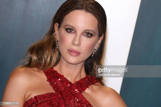 Kate Beckinsale attends the 2020 Vanity Fair Oscar Party at Wallis Annenberg Center for the Performing Arts on February 09 2020 in Beverly Hills...
