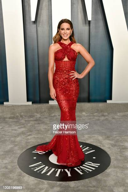 Kate Beckinsale attends the 2020 Vanity Fair Oscar Party hosted by Radhika Jones at Wallis Annenberg Center for the Performing Arts on February 09,...