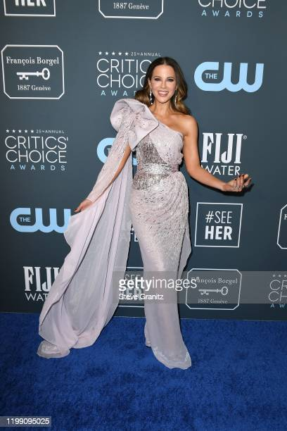 Kate Beckinsale attends the 25th Annual Critics' Choice Awards at Barker Hangar on January 12 2020 in Santa Monica California