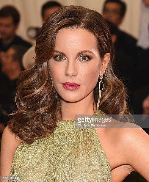 Kate Beckinsale attends the China Through The Looking Glass Costume Institute Benefit Gala at the Metropolitan Museum of Art on May 4 2015 in New...