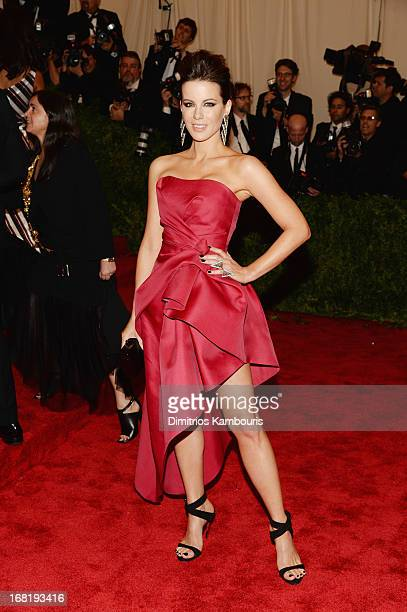 Kate Beckinsale attends the Costume Institute Gala for the PUNK Chaos to Couture exhibition at the Metropolitan Museum of Art on May 6 2013 in New...