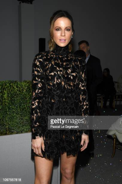 Kate Beckinsale attends the Giambattista Valli Haute Couture Spring Summer 2019 show as part of Paris Fashion Week on January 21 2019 in Paris France