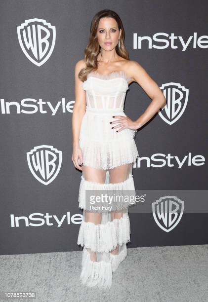 Kate Beckinsale attends the InStyle And Warner Bros Golden Globes After Party 2019 at The Beverly Hilton Hotel on January 6 2019 in Beverly Hills...