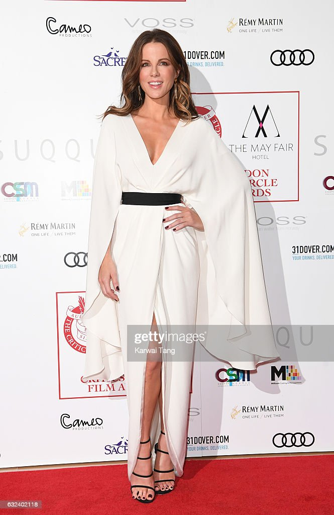 Kate Beckinsale attends The London Critic's Circle Film Awards at the Mayfair Hotel on January 22, 2017 in London, United Kingdom.