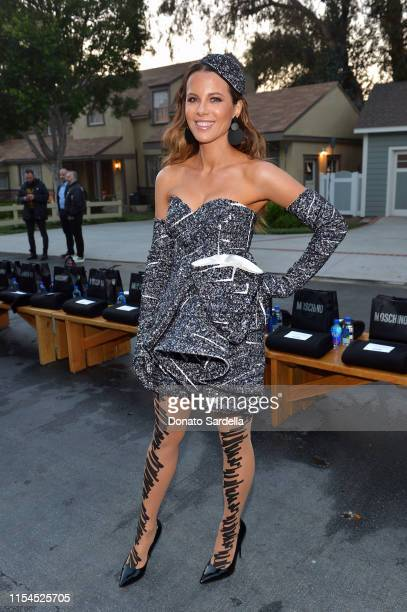 Kate Beckinsale attends the Moschino Spring/Summer 20 Menswear and Women's Resort Collection at Universal Studios Hollywood on June 07 2019 in...