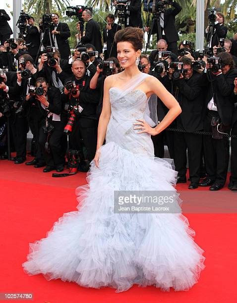 Kate Beckinsale attends the Opening Night Premiere of 'Robin Hood' at the Palais des Festivals during the 63rd Annual International Cannes Film...