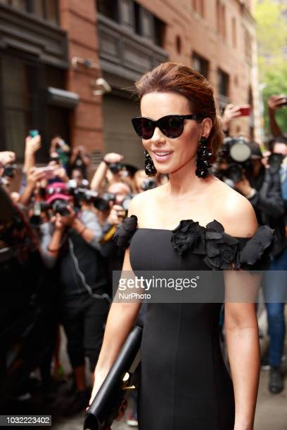 Kate Beckinsale attends the Oscar de la Renta Runway Show during New York Fashion Week on September 11 2018 in New York City