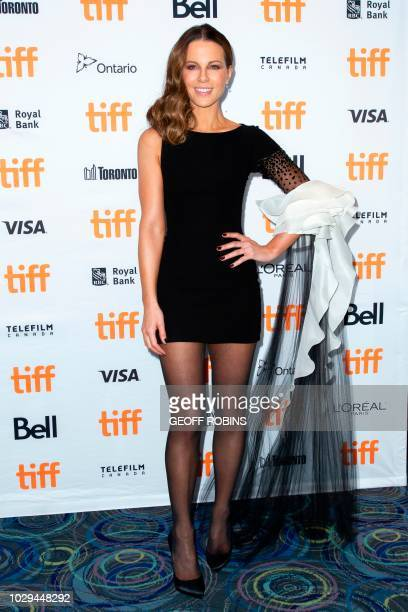Kate Beckinsale attends the premiere of 'Farming' at the Toronto International Film Festival in Toronto Ontario September 8 2018
