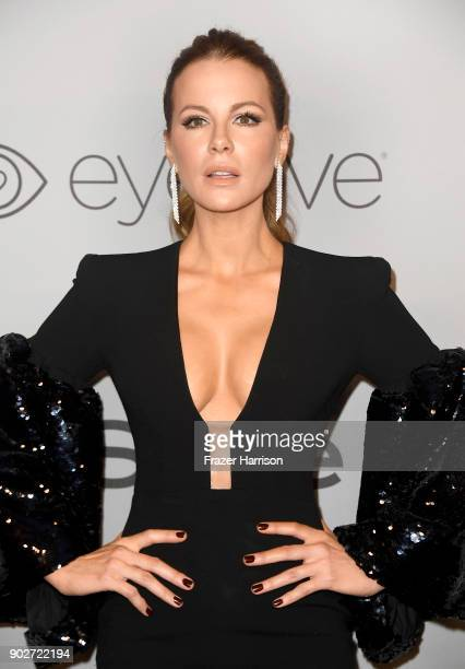 Kate Beckinsale attends Warner Bros Pictures And InStyle Host 19th Annual PostGolden Globes Party at The Beverly Hilton Hotel on January 7 2018 in...