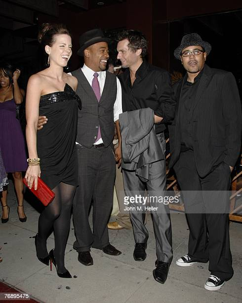 Kate Beckinsale Columbus Short Len Wiseman and a guest at Columbus Short's Birthday Party at Crustacean on September 19 2007 in Beverly Hills...