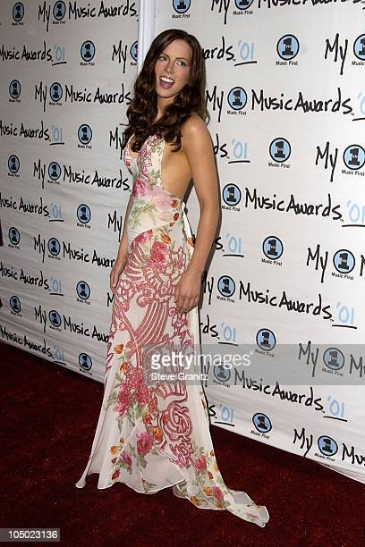 Kate Beckinsale during My VH1 Music Awards 2001 Arrivals at The Shrine Auditorium in Los Angeles California United States