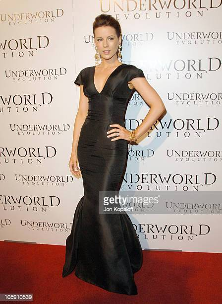 Kate Beckinsale during Underworld Evolution Los Angeles Premiere Arrivals at Cinerama Dome in Hollywood California United States