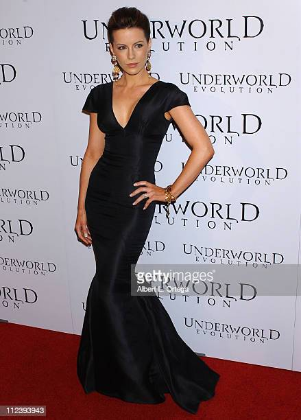 Kate Beckinsale during World Premiere of Screen Gems' 'Underworld Evolution' at Cinerama Dome in Hollywood California United States