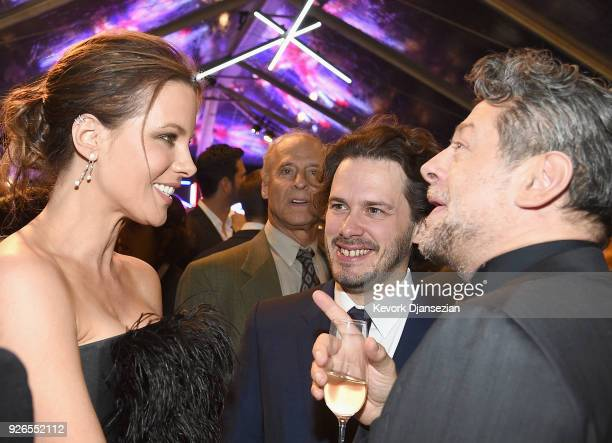 Kate Beckinsale Edgar Wright and Andy Serkis attend the Great British Film Reception honoring the British nominees of The 90th Annual Academy Awards...