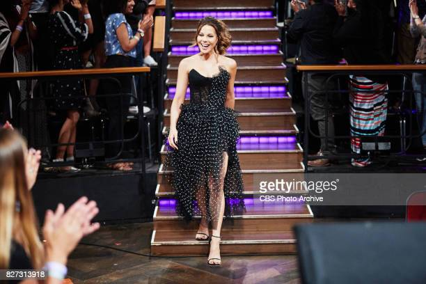 Kate Beckinsale greets the audience during 'The Late Late Show with James Corden' Friday July 28 2017 On The CBS Television Network
