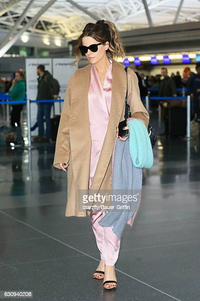 Kate Beckinsale is seen at JFK on January 03 2017 in New York City