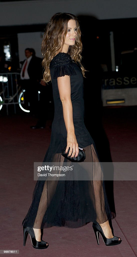 Kate Beckinsale is seen leaving the Chanel party this morning on May 19, 2010 in Cannes, France.