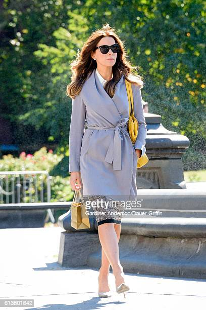Kate Beckinsale is seen on the set of 'The Only Living Boy in New York' on October 10 2016 in New York City