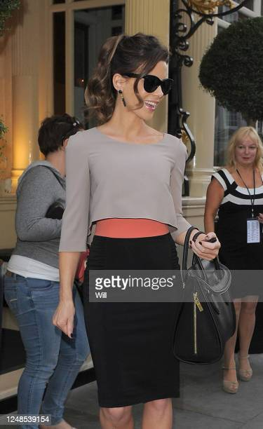 Kate Beckinsale leaves a private screening of the film 'Total Recall' on August 15 2012 in London England
